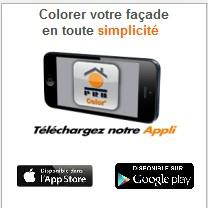 Appli mobile PRB pour l'aide au choix de la couleur d'enduit