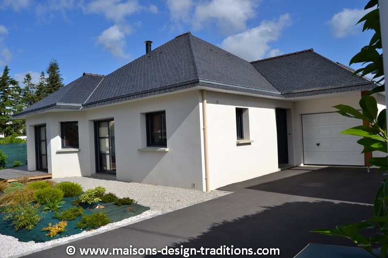 Photos de construction de maison en morbihan for Construction maison plain pied