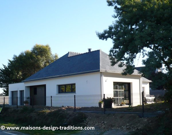 Interesting maison construite sur un terrain sarzeau with for Prix moyen construction maison 100m2