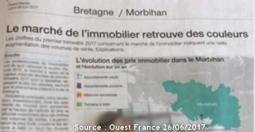 Bretagne / Morbihan Le marché de l'immobilier
